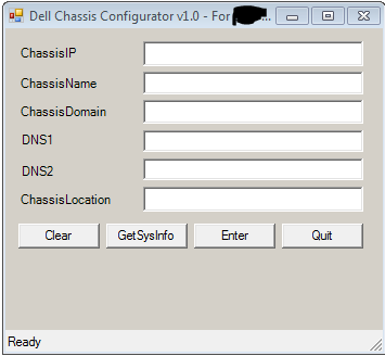 "Automated ""Dell Chassis Configuration"" GUI script utility « J"